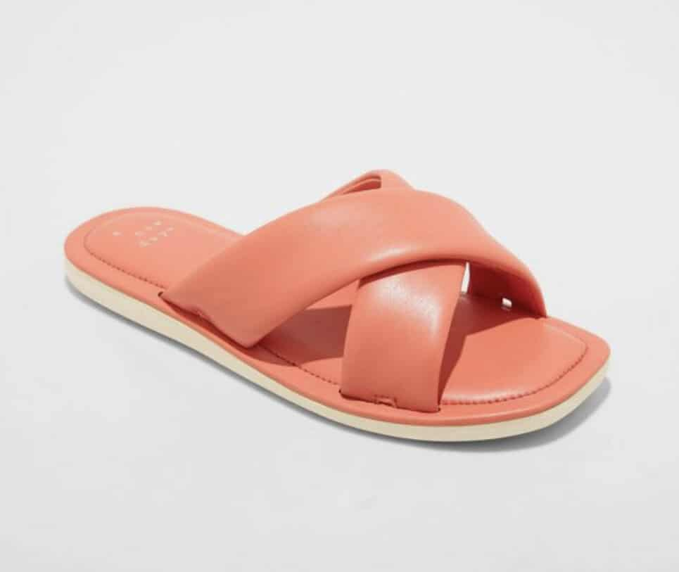 These comfy slides from Tar-jay come in four colors and would be great to slip on when running errands or heading to the pool. It's an elevated flip-flop at a great price.  -
