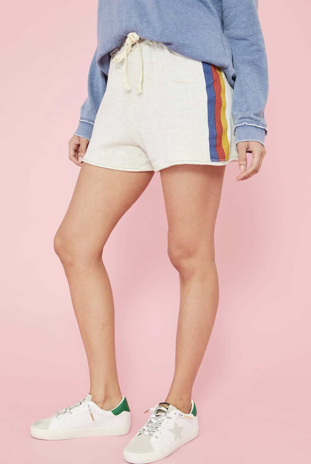 I have a pair of really awful sweat shorts that everyone in my family hates, so these would be a serious upgrade. I'd wear them all summer long as my lounge wear, bathing suit cover up, and errand running foundational piece.  -