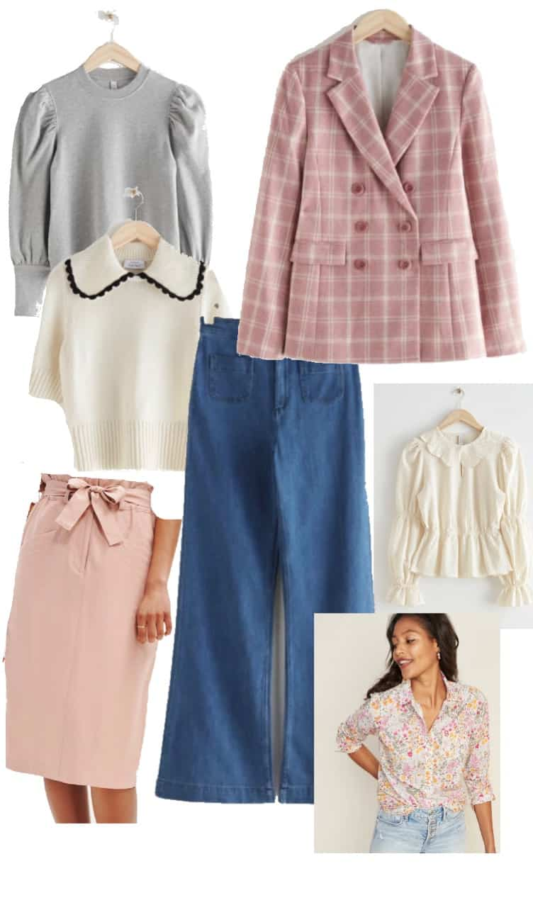 a selection of items for a capsule wardrobe