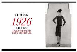 sketch of coco chanel's first little black dress concept.