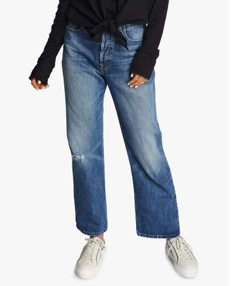 baggy jeans with a bit of distress