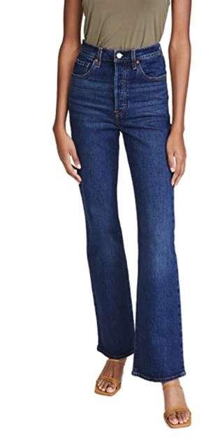 dark wash bootleg cut jeans elevated basic
