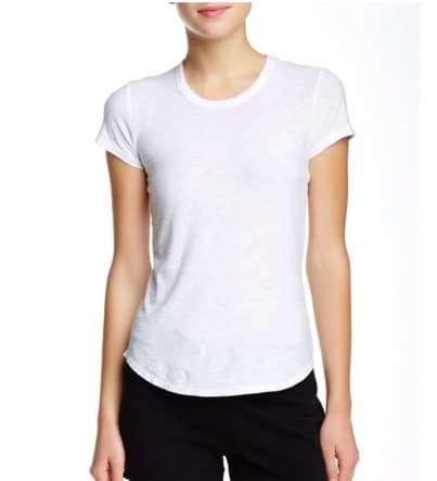 white fitted short sleeved tshirt basic