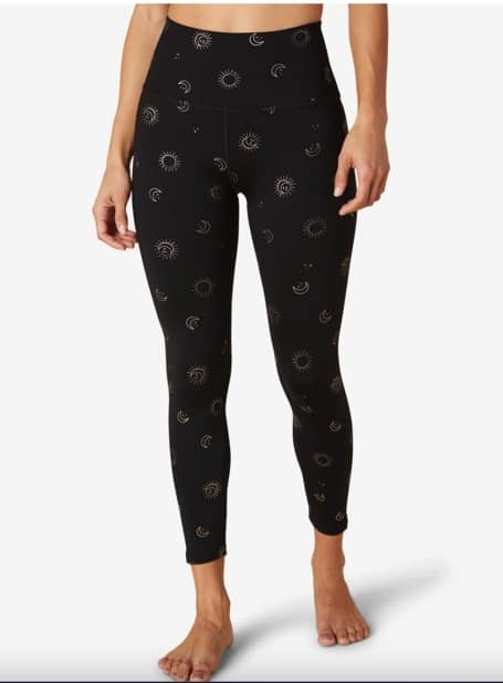 yoga pants with stars, moon and planets to help motivate you to wrokout